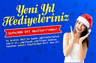Yeni Yıl Hediyeleriniz InfoLANG Dil Okulları'ndan!